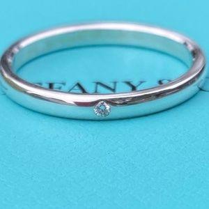 Tiffany & Co Sterling Silver Diamond Ring